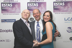2013, 2012, 2011 & 2010 ESTAS BEST LETTING AGENT IN SOUTH EAST (NORTH) REGION WINNER